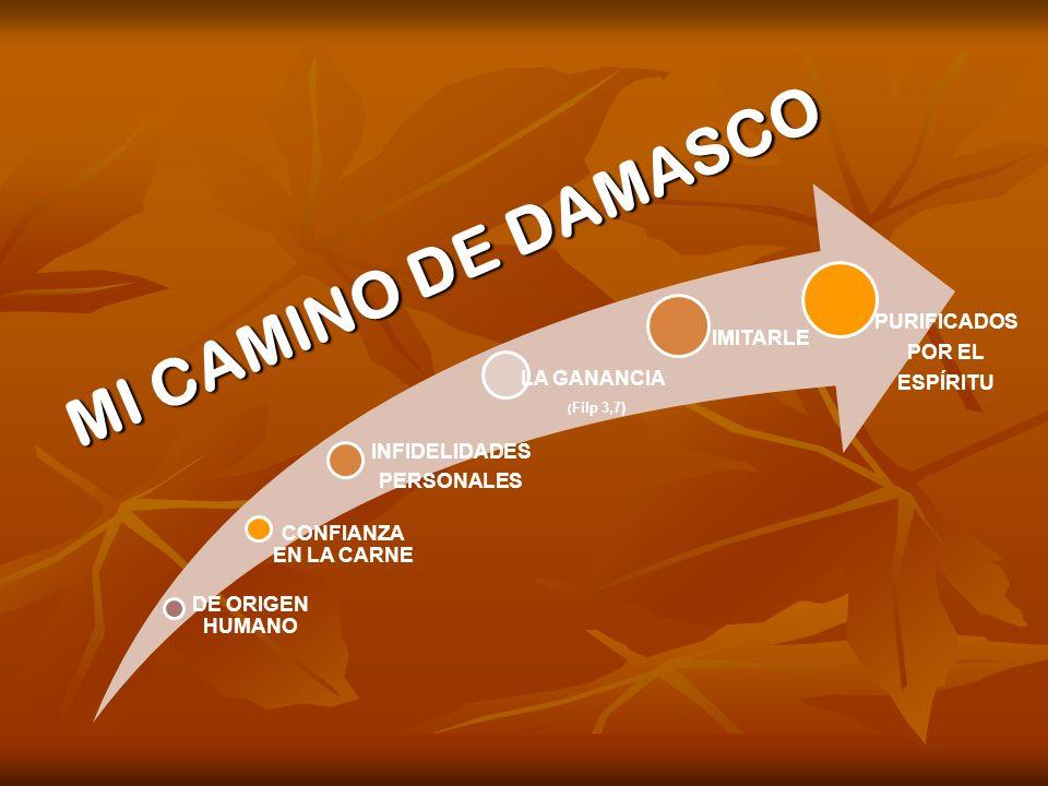 MI CAMINO DE DAMASCO DE ORIGEN HUMANO INFIDELIDADES PERSONALES