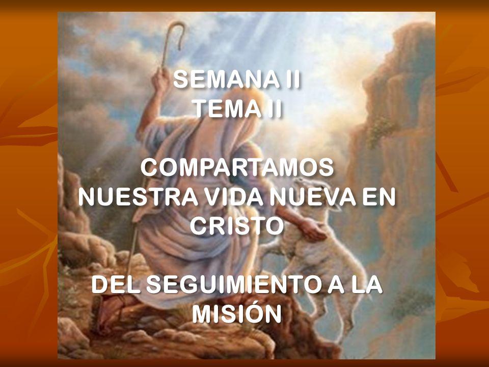NUESTRA VIDA NUEVA EN CRISTO DEL SEGUIMIENTO A LA MISIÓN