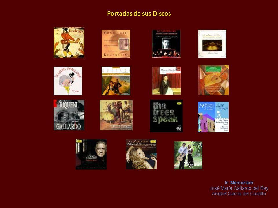 Portadas de sus Discos In Memoriam José María Gallardo del Rey