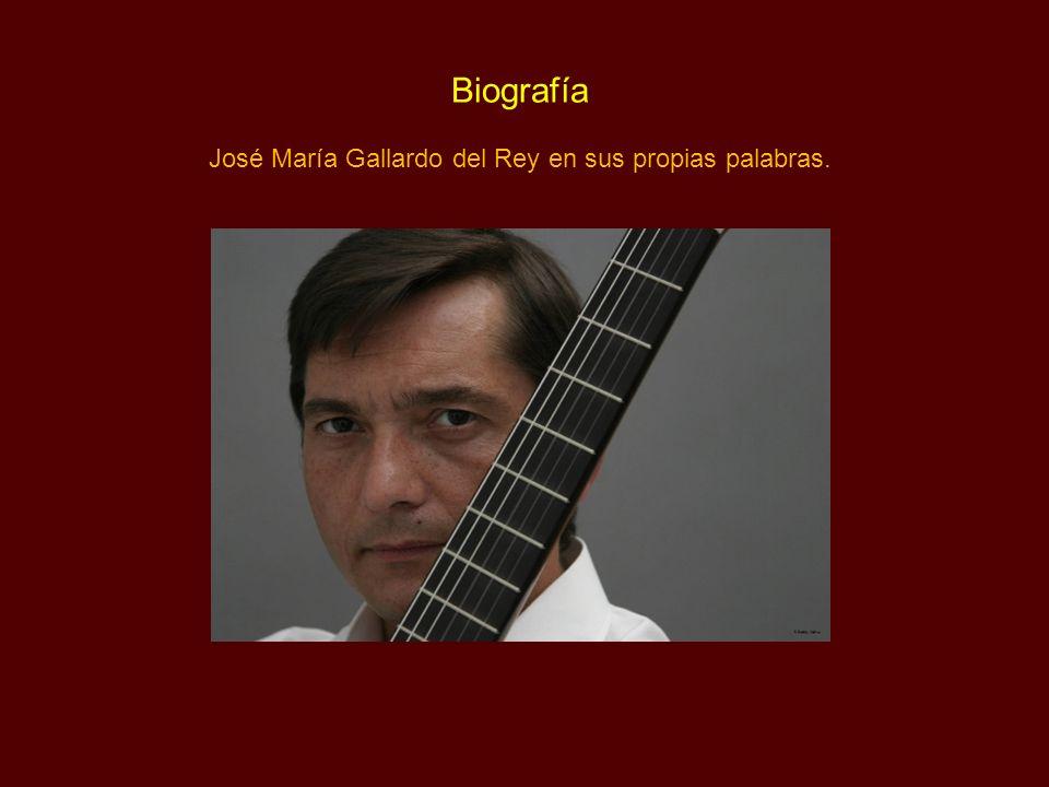 José María Gallardo del Rey en sus propias palabras.