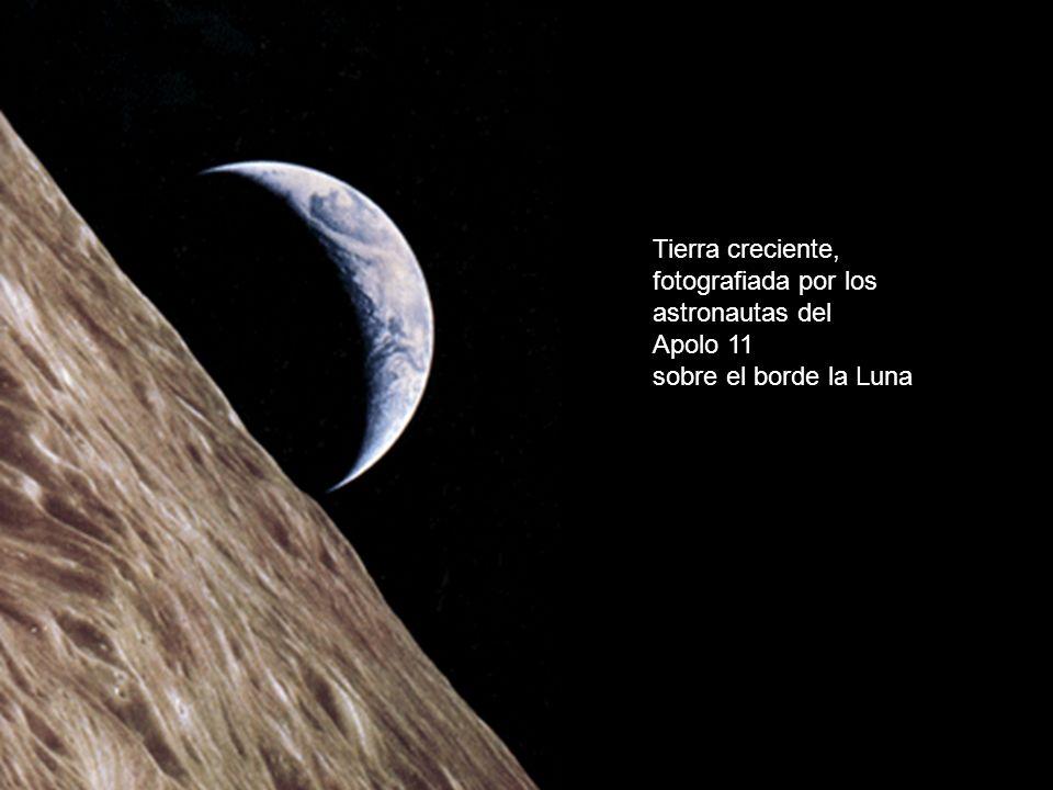 Tierra creciente, fotografiada por los astronautas del