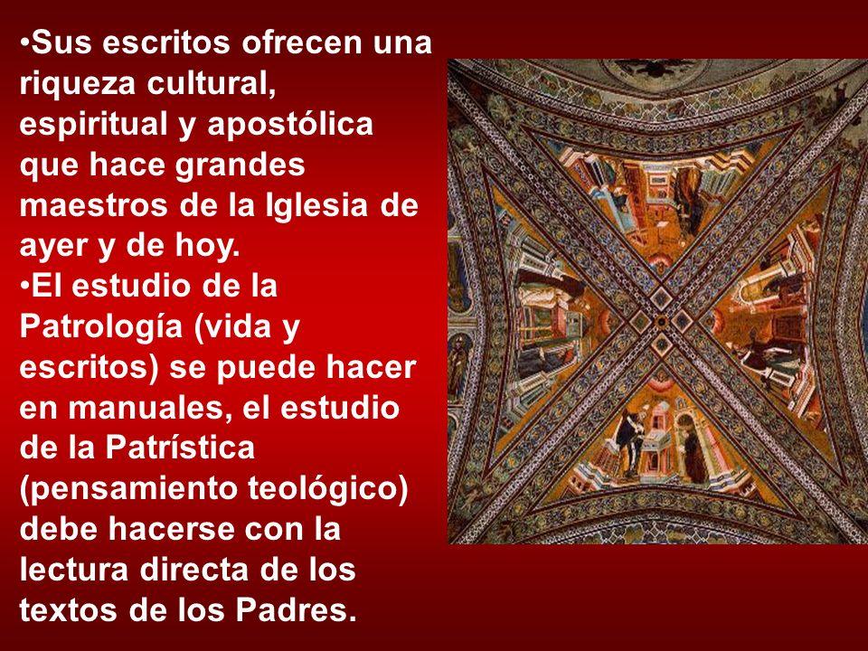 Sus escritos ofrecen una riqueza cultural, espiritual y apostólica que hace grandes maestros de la Iglesia de ayer y de hoy.