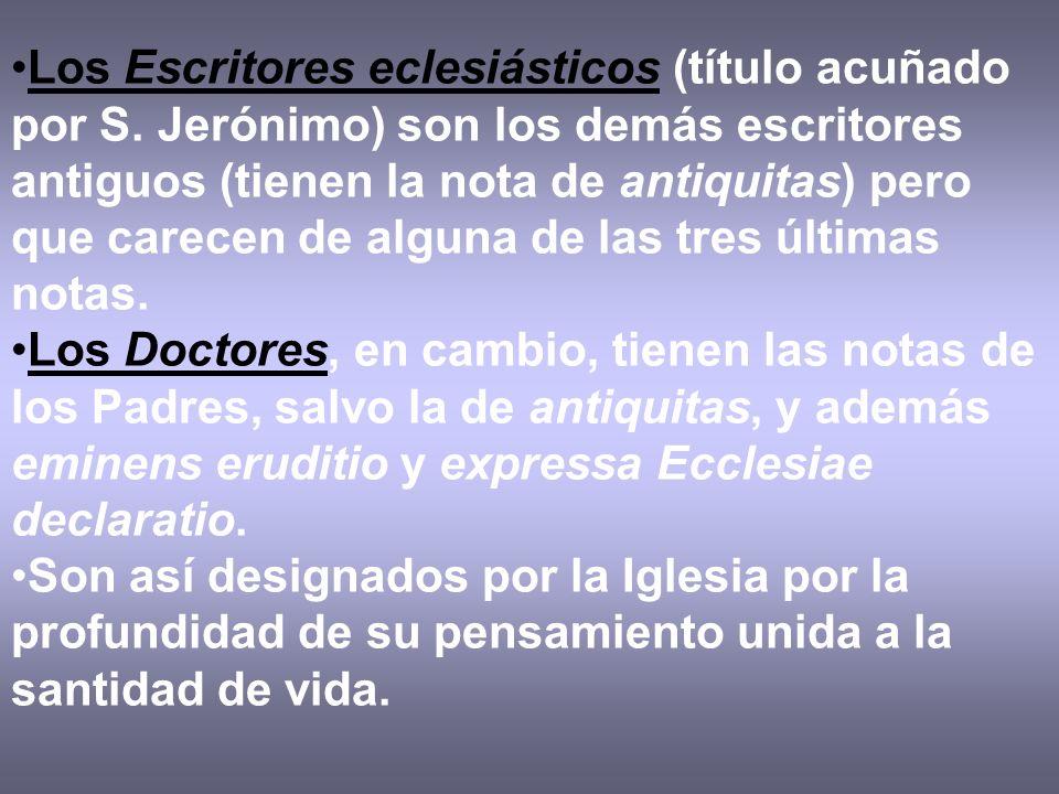 Los Escritores eclesiásticos (título acuñado por S