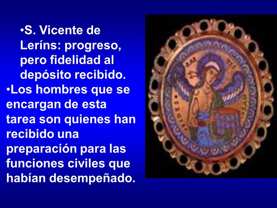 S. Vicente de Leríns: progreso, pero fidelidad al depósito recibido.