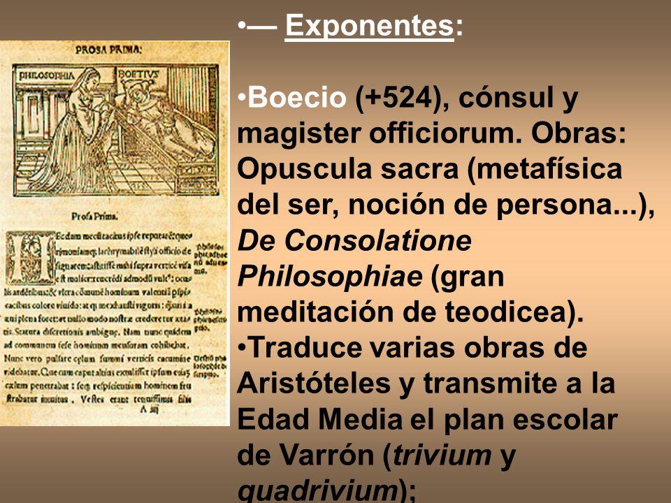 — Exponentes: