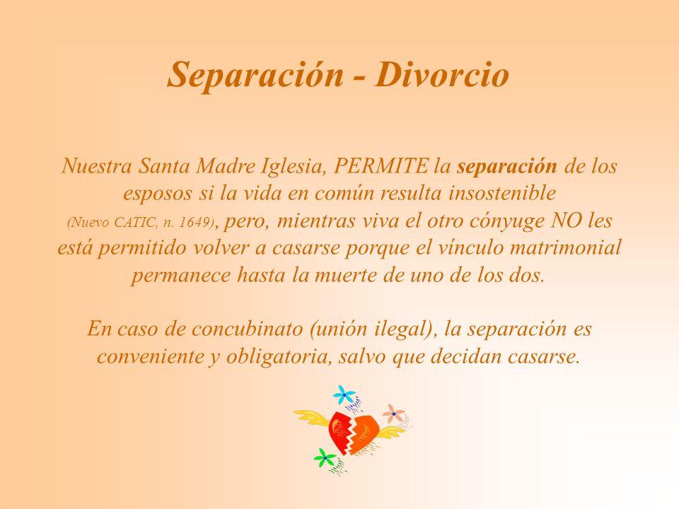 Separación - Divorcio