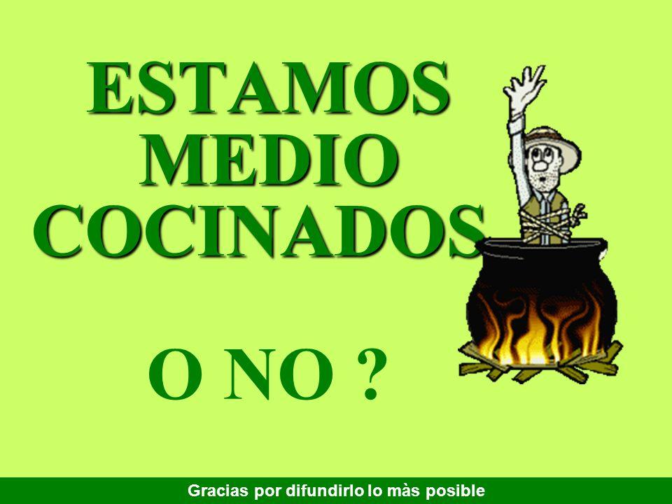 ESTAMOS MEDIO COCINADOS, O NO