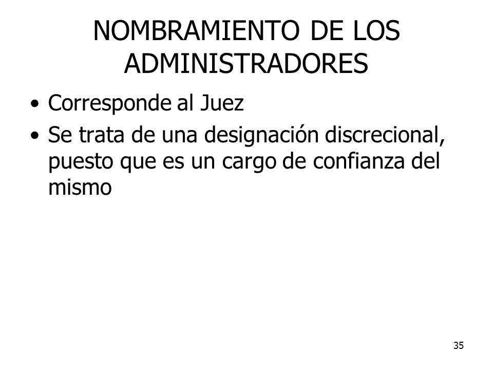 NOMBRAMIENTO DE LOS ADMINISTRADORES