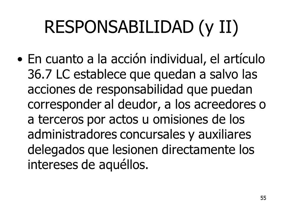 RESPONSABILIDAD (y II)