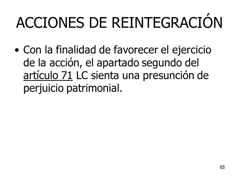 ACCIONES DE REINTEGRACIÓN