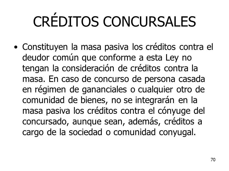 CRÉDITOS CONCURSALES