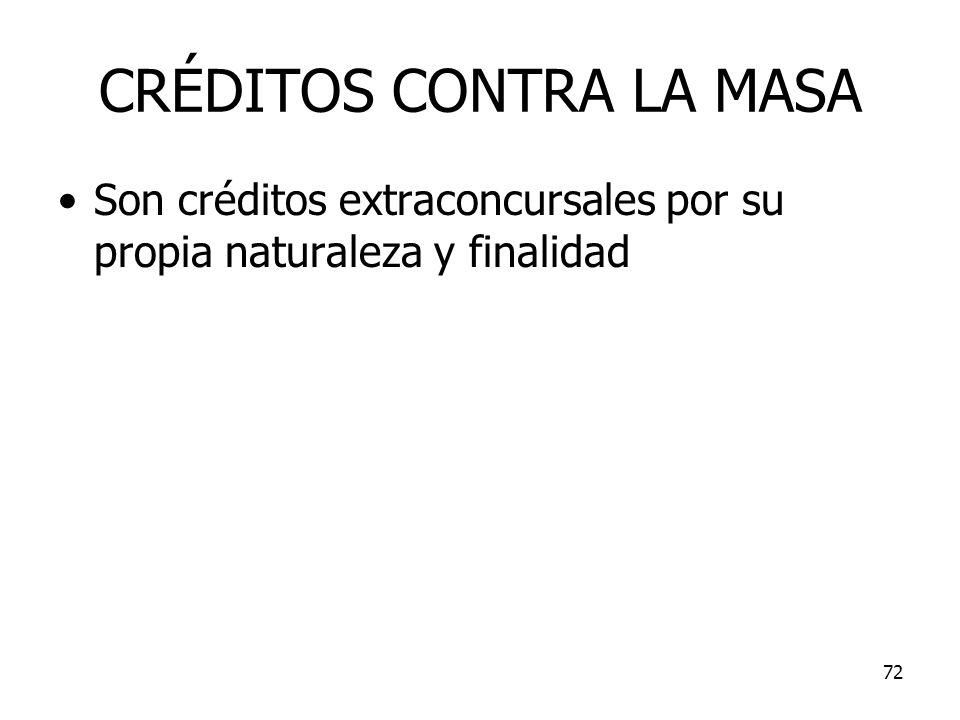 CRÉDITOS CONTRA LA MASA