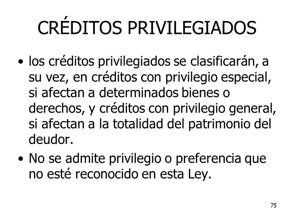 CRÉDITOS PRIVILEGIADOS