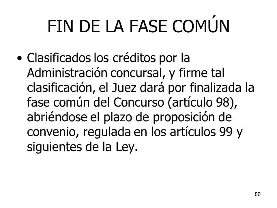 FIN DE LA FASE COMÚN