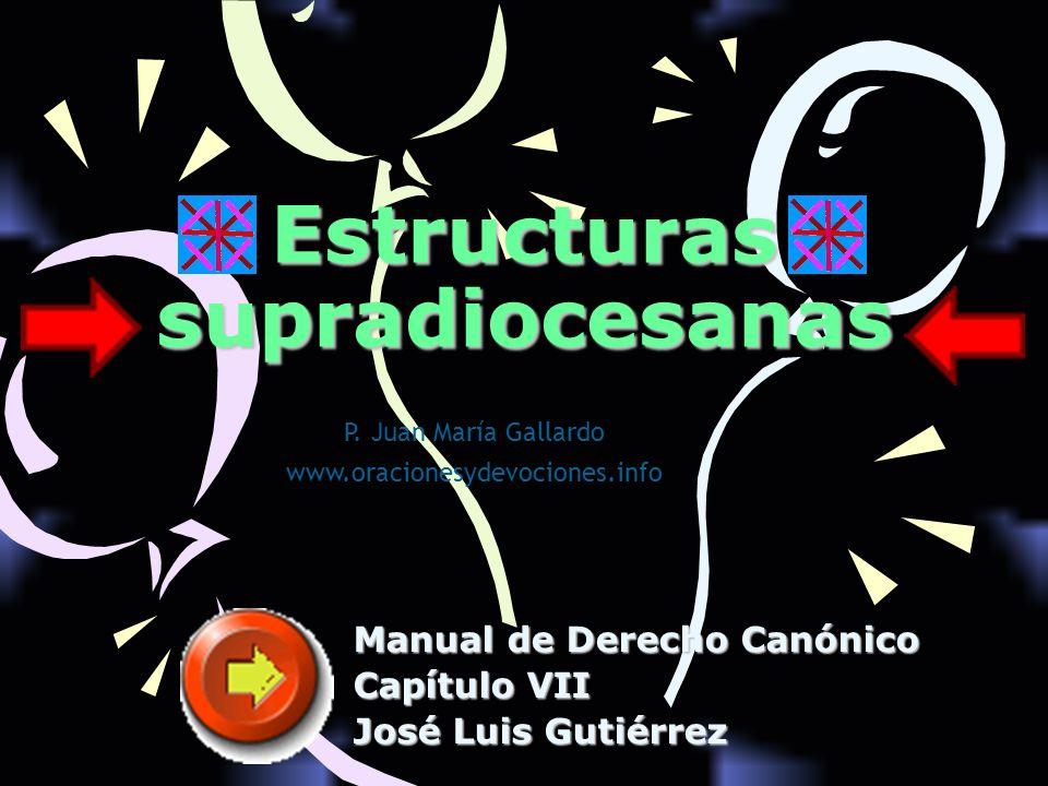 Estructuras supradiocesanas