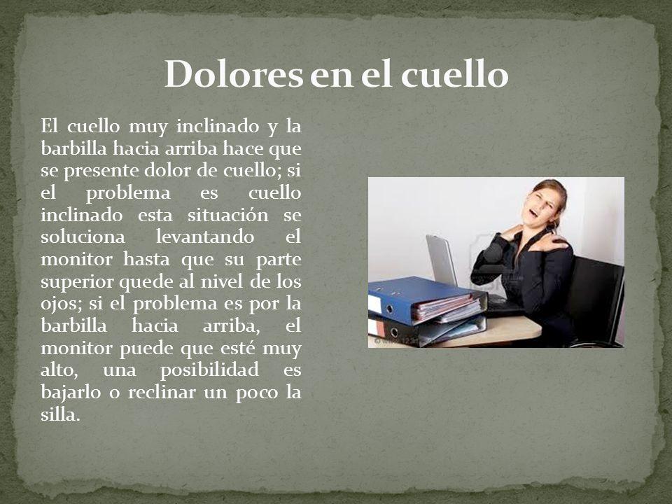 Dolores en el cuello