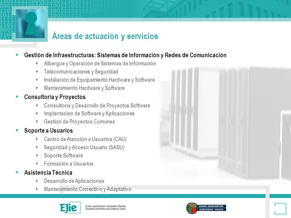 Áreas de actuación y servicios