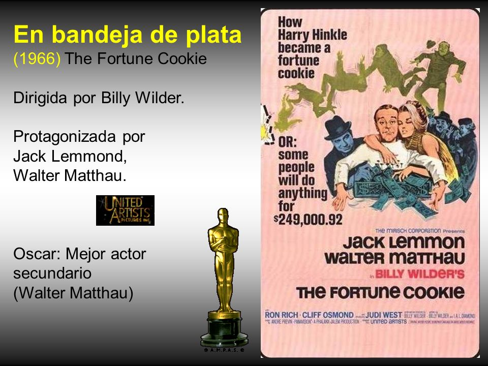 En bandeja de plata (1966) The Fortune Cookie