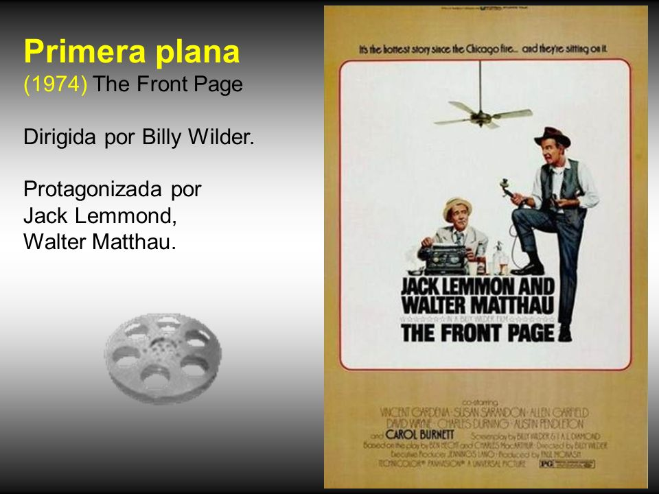 Primera plana (1974) The Front Page