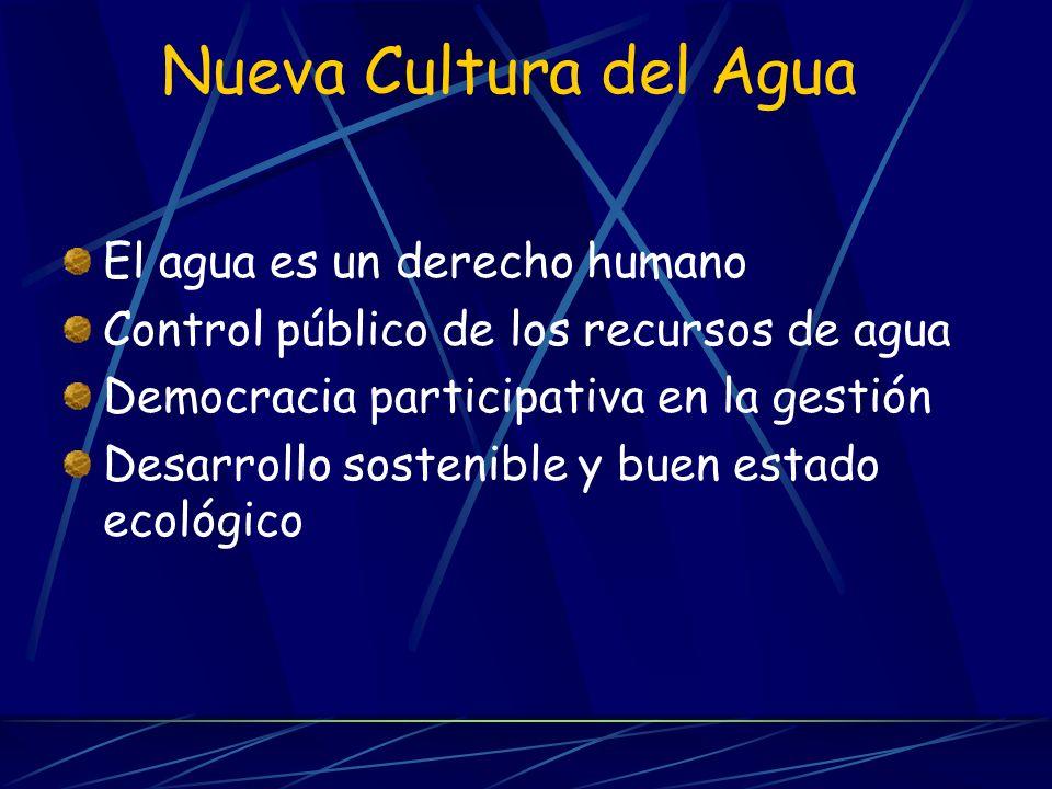 Nueva Cultura del Agua El agua es un derecho humano