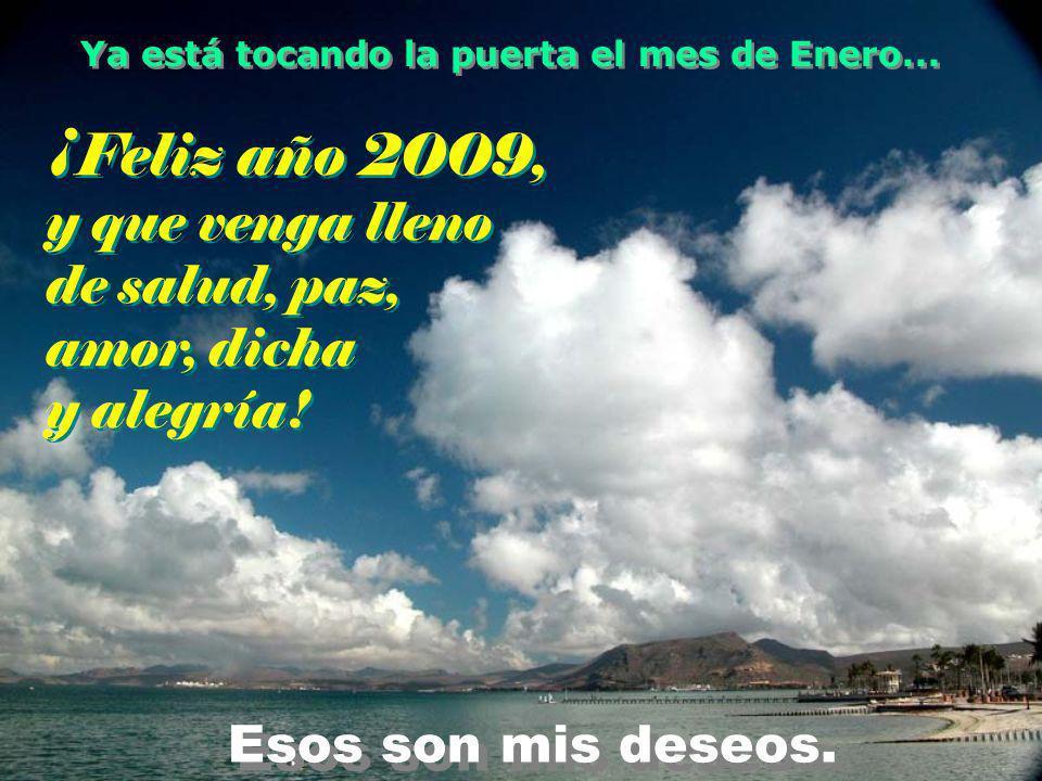 ¡Feliz año 2009, y que venga lleno de salud, paz, amor, dicha