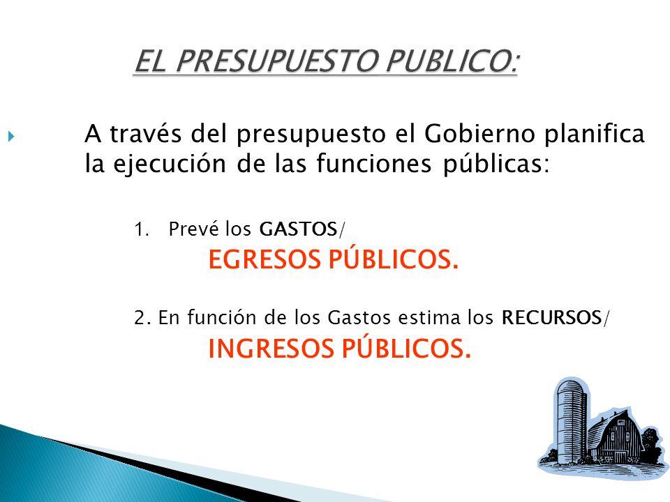 EL PRESUPUESTO PUBLICO: