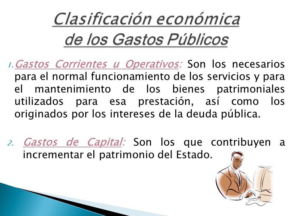 Clasificación económica de los Gastos Públicos