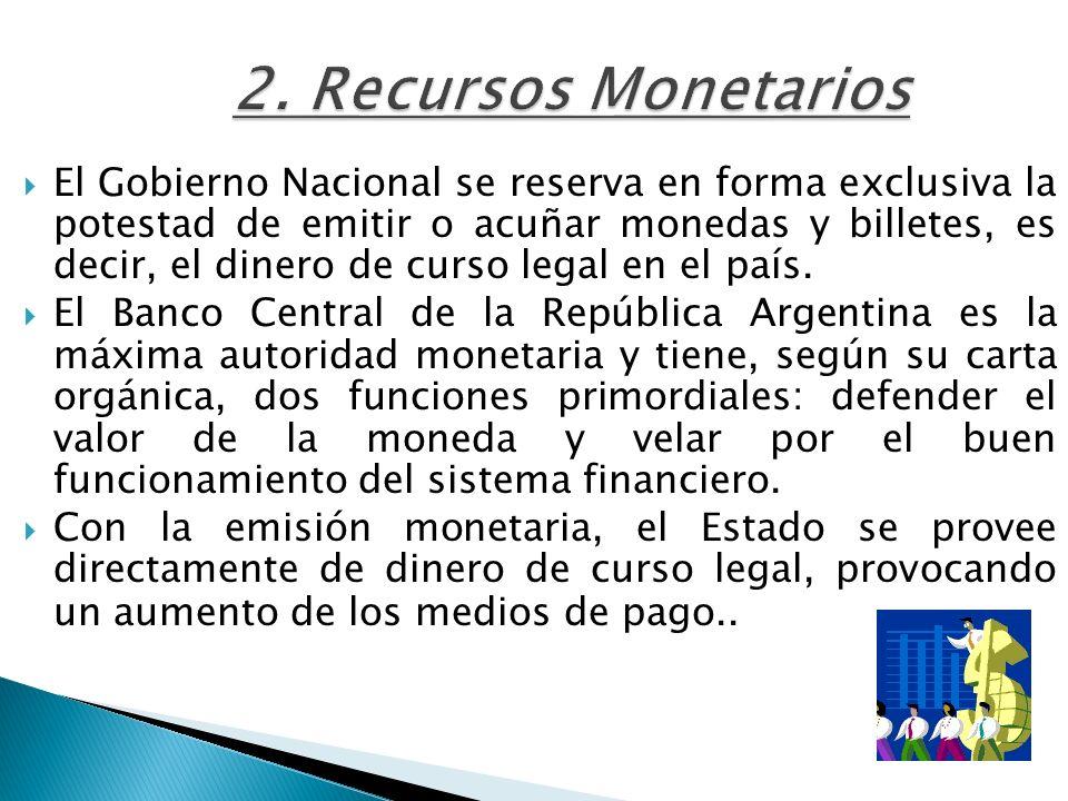 2. Recursos Monetarios