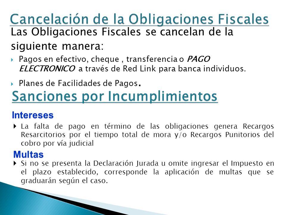 Cancelación de la Obligaciones Fiscales