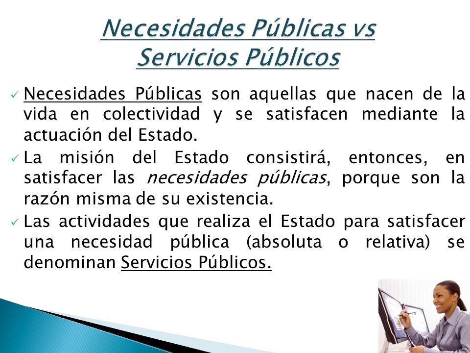 Necesidades Públicas vs Servicios Públicos
