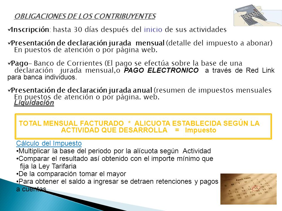 OBLIGACIONES DE LOS CONTRIBUYENTES
