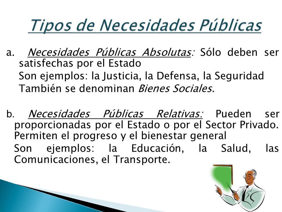 Tipos de Necesidades Públicas