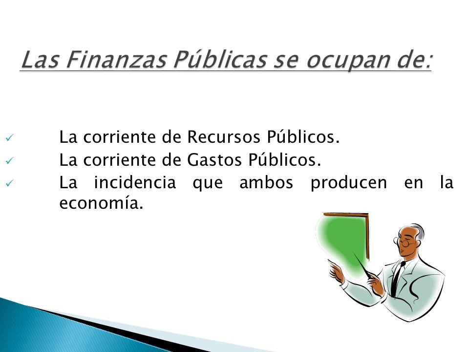 Las Finanzas Públicas se ocupan de: