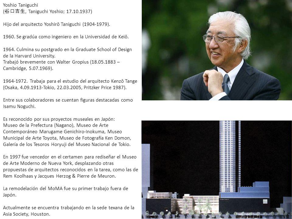 Yoshio Taniguchi (谷口吉生, Taniguchi Yoshio; 17. 10