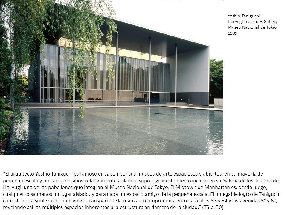 Yoshio Taniguchi Horyugi Treasures Gallery. Museo Nacional de Tokio, 1999.