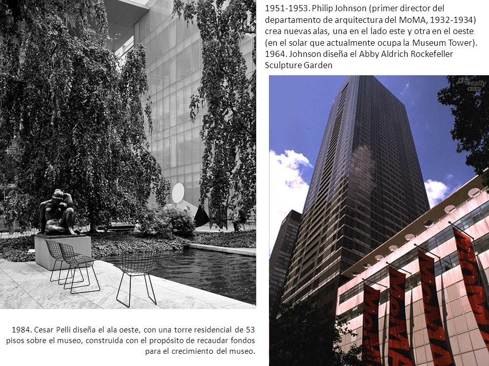 1964. Johnson diseña el Abby Aldrich Rockefeller Sculpture Garden