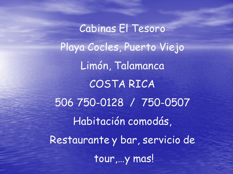 Playa Cocles, Puerto Viejo Limón, Talamanca COSTA RICA