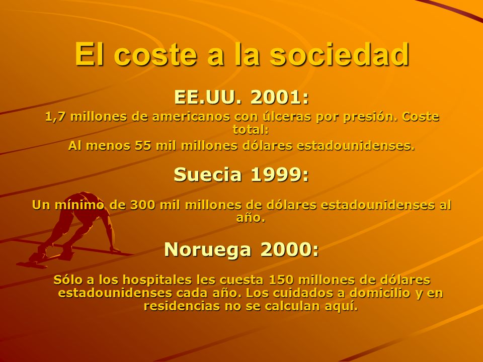 El coste a la sociedad EE.UU. 2001: Suecia 1999: Noruega 2000: