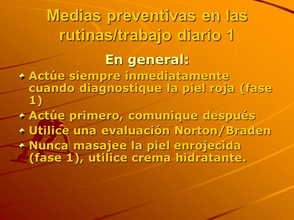 Medias preventivas en las rutinas/trabajo diario 1