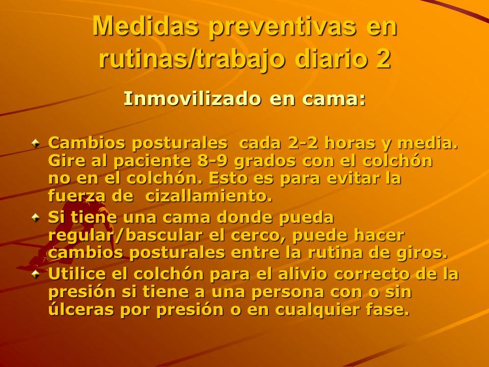 Medidas preventivas en rutinas/trabajo diario 2