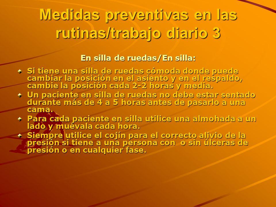 Medidas preventivas en las rutinas/trabajo diario 3