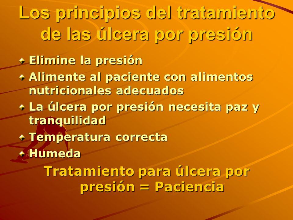 Los principios del tratamiento de las úlcera por presión