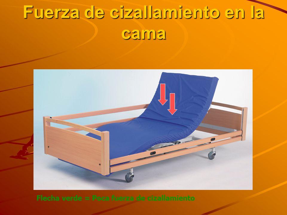 Fuerza de cizallamiento en la cama