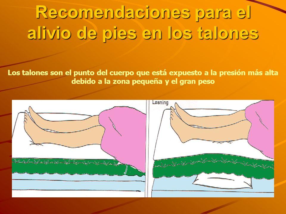 Recomendaciones para el alivio de pies en los talones