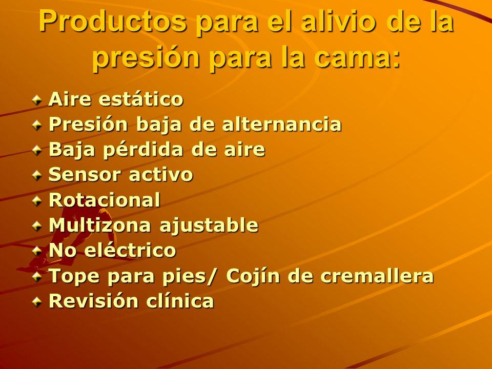 Productos para el alivio de la presión para la cama:
