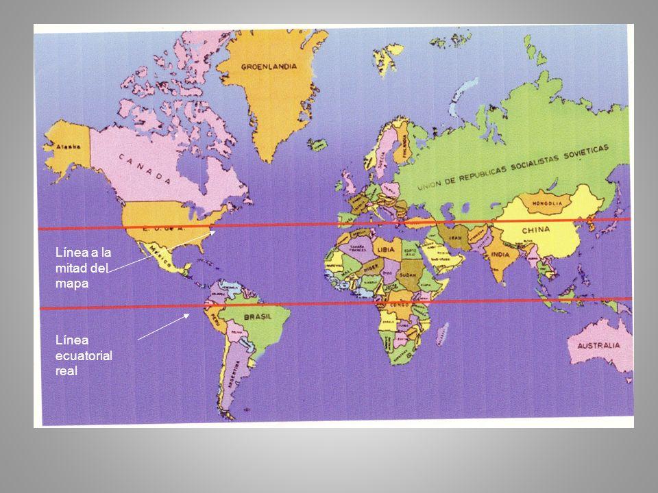 Línea a la mitad del mapa