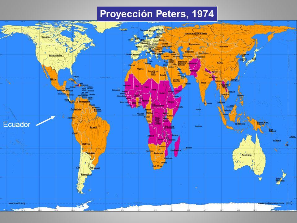 Proyección Peters, 1974 Ecuador
