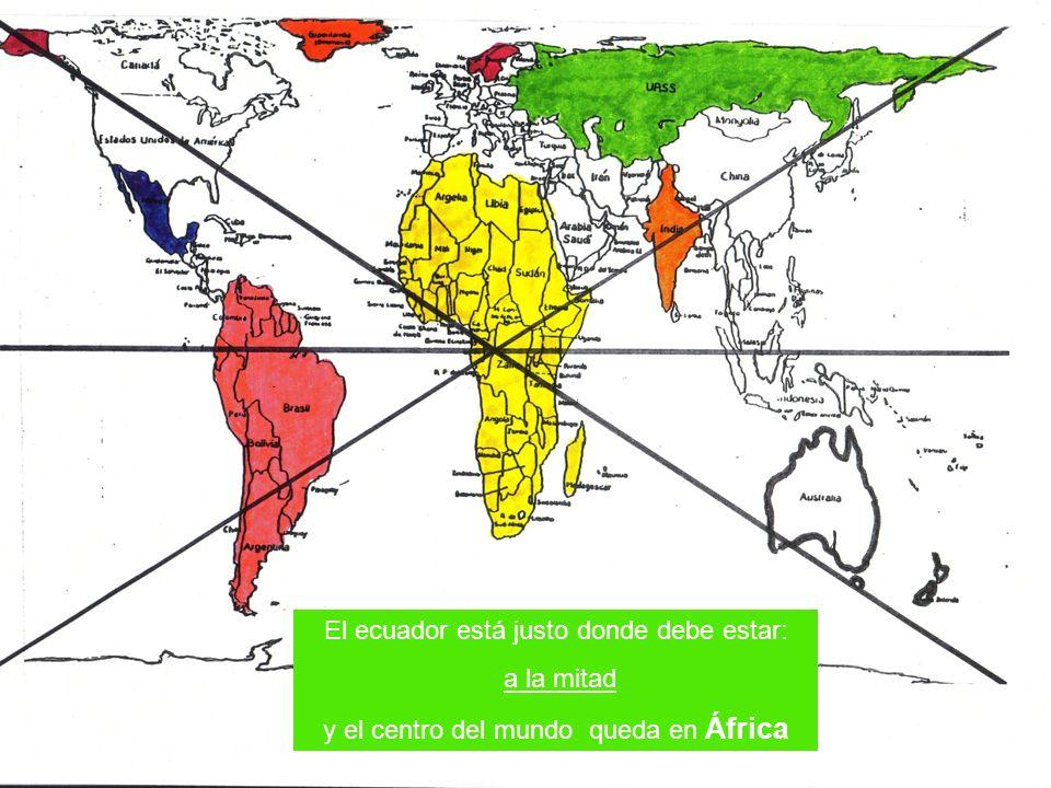 El ecuador está justo donde debe estar: a la mitad