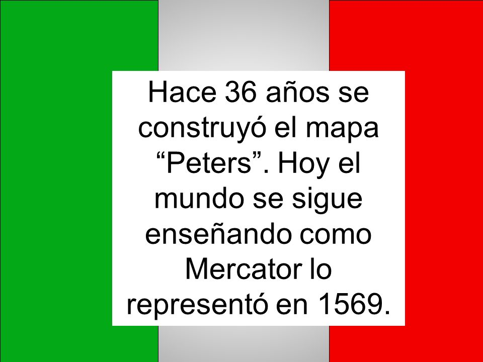 Hace 36 años se construyó el mapa Peters