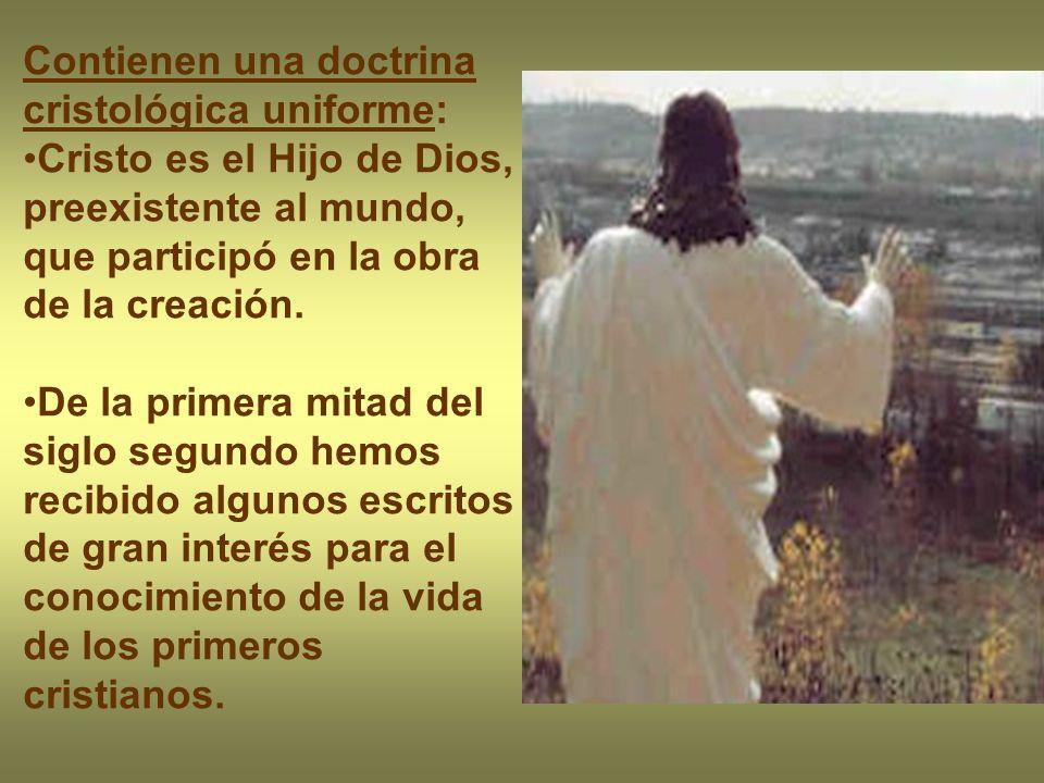 Contienen una doctrina cristológica uniforme: